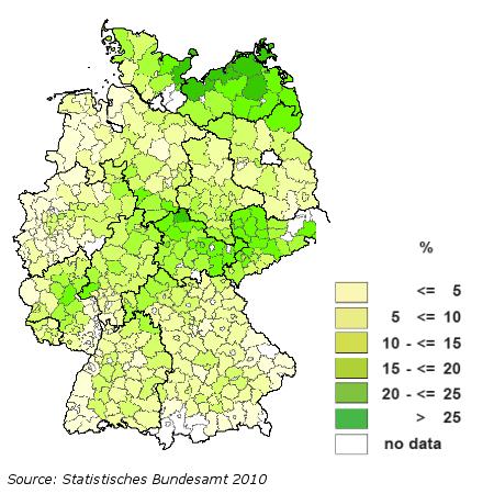 Germany Agri Benchmark - Germany map lands